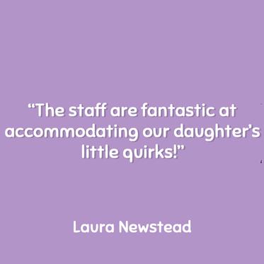 Laura Newstead Testimonial